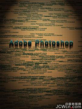 photoshop制作文字海报排版图文教程