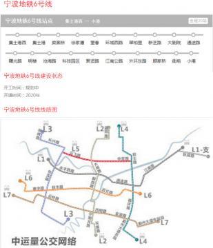 宁波地铁6号线规划图2016最新版