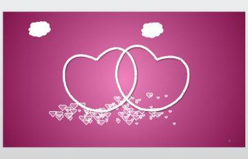 粉色爱心背景的动态情人节PPT模板下载 西西软件下载