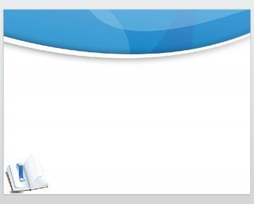 清新蓝色背景的毕业论文答辩ppt模板