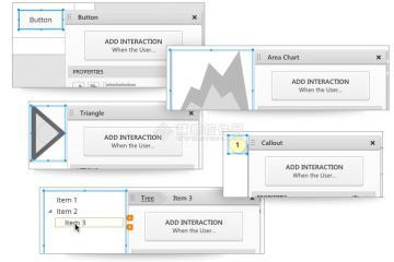 如axure等流行的原型设计软件