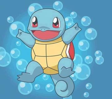可爱的杰尼龟 杰尼龟,小龟神奇宝贝,背后的龟壳强大到压路机都无法